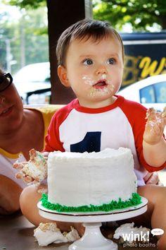 Smash Cake!  ... via wink! photo booths