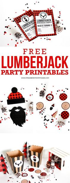 Lumberjack party printables for your next lumberjack themeed party. Lumberjack party printables for your next lumberjack themeed party. Boy First Birthday, Birthday Fun, First Birthday Parties, Birthday Party Themes, First Birthdays, Birthday Ideas, Birthday Decorations, Birthday Nails, Birthday Wishes