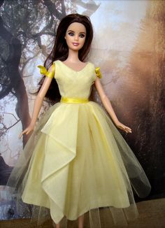 """Katniss Everdeen Interview Dress Costume from """"The Hunger Games"""" for Barbie Dolls - by Morgan May @ Stardust Dolls - http://ww.stardustdolls.com"""