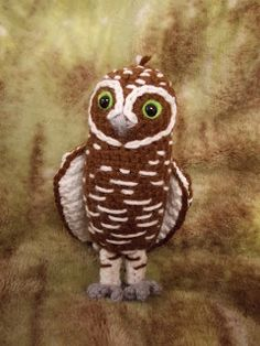 Great Grey Crochet: Digger the Burrowing Owl