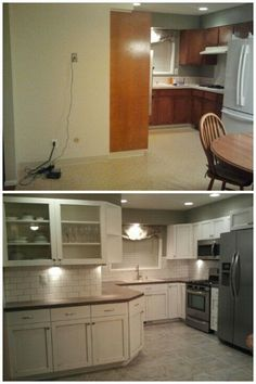 My before and after kitchen remodel