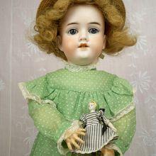 Antique Kley & Hahn / Simon & Halbig 22 inch Child, Mold 282 Plus 3 inch Bisque Doll