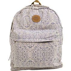 O'Neill Goldenwest backpack.     Allover print.     Zippered main and front compartments.     Interior nylon lining and laptop compartment.     Adjustable straps.     Imported.