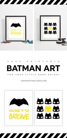 free batman printable art | printables for kids | nursery art