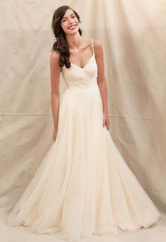 Fancy spaghetti straps informal wedding dress $338.00