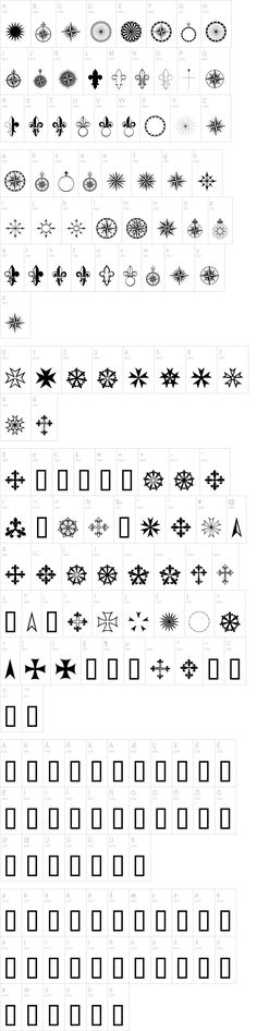 Dingbats - PR Compass Rose Font | dafont.com. Classic compasses, scrolls, fleur de lis. Would be great for travelogues or Boy Scouts. Navy Tattoos, Dingbat Fonts, Drawing Letters, Graphic Projects, Compass Rose, Indian Gods, Shape And Form, Henna Designs, Boy Scouts