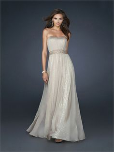 A-line Strapless Sweetheart with Sequins Floor Length Chiffon Homecoming Dress HD1522 www.homecomingstore.com $168.0000