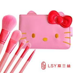 6 spot and Valuation pink Hello Kitty makeup / makeup brush with