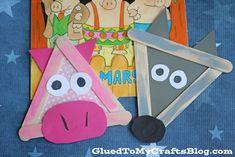 Palillo de paleta tres cerditos y el lobo - Kid Craft