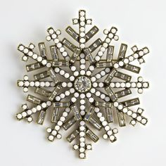 """Ice Crystal"" Pin ~ Heidi Daus Designs Official Site"