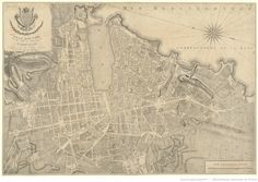 Plan routier de la ville et faubourg de Marseille / levé par Campen
