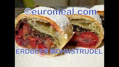 Erdbeer Mohn Strudel - euromeal.com Bagel, Sandwiches, Bread, Food, Strawberries, Fresh, Chef Recipes, Cooking, Meal
