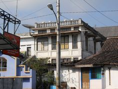 Old house in Daha Street, Magelang  City, Central Java, Indonesia