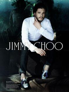 Kit Harington todo sexy na nova campanha da Jimmy Choo (Jon Snow fashion!)