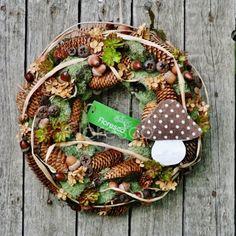 Podzimní věnec na dveře přírodní. Léto a podzim 2019 | Květinářství Floresco Vyrobila Šárka Pleskačová Autumn, Fall, Grapevine Wreath, Grape Vines, Diy And Crafts, Wreaths, Creative, Home Decor, Pictures