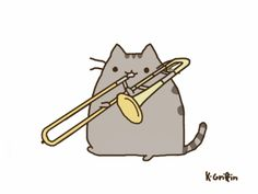pusheen drums - Google Search