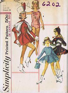 "Girls Majorette Skating Costume Sewing Pattern Simplicity Size 10 Bust 28"" Uncut   eBay"