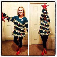Ugly Christmas Sweater / Ugly Christmas Tree Sweater - Ugly Christmas Sweater Party - Womens - Funny Xmas Sweater - by on Etsy Best Ugly Christmas Sweater, Winter Christmas, Funny Christmas, Holiday Sweaters, Christmas Time, Christmas Tree Outfit, Christmas Jumpers, Merry Christmas, Thanksgiving Holiday