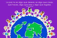 Frase de educación sobre la paz.