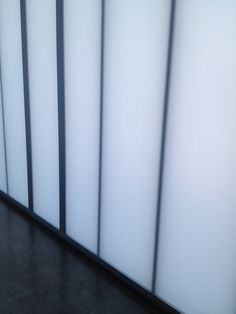 CPI polycarbonate wall, interior, it glowed Art Gallery Barcelona, U Glass, Cafe Interior, Blinds, Glow, Curtains, Kiosk, Dividers, Offices