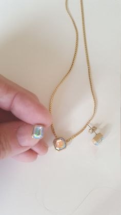 Avon 'Aurora Borealis Necklace and Earrings' ~