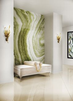 Entrance Hall Ideas | Lé-Lé Bench and Botanica Sconce | Koket See more…