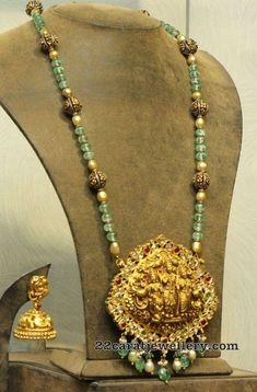 Emerald Beads Set Ram Sita Pendant