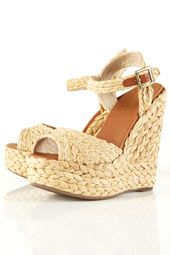 raffia wedges- the ultimate summer shoe