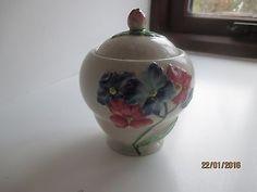 Carlton Ware, High Class, Hydrangea, Preserves, Jar, Hand Painted, Link, Tableware, Design