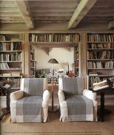 timbers, chairs, and a place for books