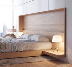 Feature timber headboard, bedframe & bedside tables designed by Artem Trigubchak ~ make sure to check out our website & sign up to be the first to experience it when it goes live!