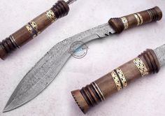 "18.75"" Custom Made ,Hande Made Beautiful Damascus Kukri Knife (861) #KnifeArtist"