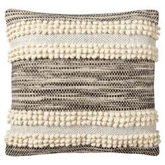 Nate Berkus pillow with Pom poms