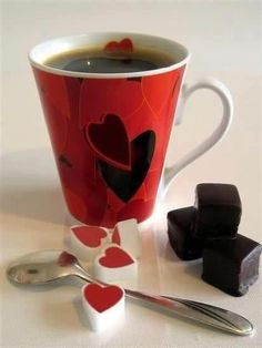 Mmmmm, coffee & coc..perfect valentines day meal..lol