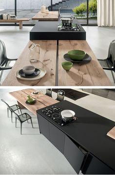 #interiordesign #interiorarchitecture #interiors #design #home #homedecor #decoration #kitchen Fenix-NTM® kitchen with island AK_04 by Arrital | #design Franco Driusso @arritalcucine