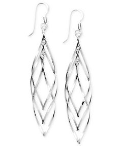 Unwritten Sterling Silver Earrings, Multi Spiral Drop