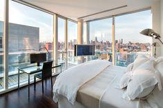 Luxurious Apartment Overlooking the Hudson River by Richard Meier, Manhattan    DesignRulz.com