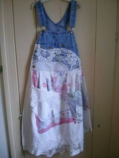 Full Apron Overall Upcycled OOAK Vintage Linens