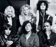 Clockwise from top left: Harry, Albertine, Sioux, Black, Styrene and Hynde in 1980 (GETTY)