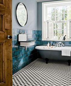 Blue Tiles Turquoise Bathroom Tiles As Bathroom Tiles Modern Master Bathroom, Modern Bathroom Design, Bathroom Interior Design, Bathroom Designs, Bathroom Ideas, Bathroom Pics, Bathroom Trends, Master Bathrooms, Bath Design