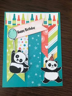 Paper Crafts By Elaine: Panda-stic Free From Stampin Up