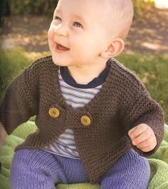This is a fun, easy baby sweater to knit!!