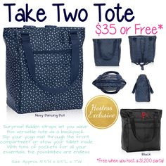 Take Two Tote by Thirty-One. Host a party to get this exclusive. Click to join my Facebook VIP page and message me to get started on your party.