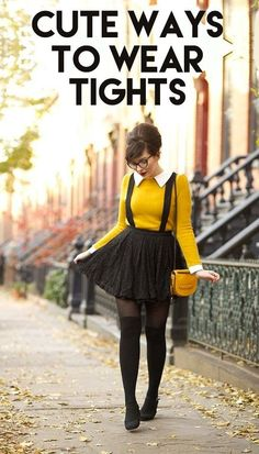 All The Different Ways To Wear Tights This Fall