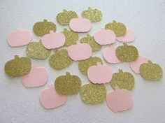 200 Little Pumpkin Confetti Little Pumpkin First Birthday Pink Gold Little Pumpkin Party Pink Gold Pumpin Confetti Fall Birthday Decor