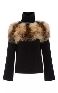 Felted Cashmere Wool Turtleneck With Silver Fox