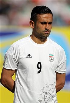 Omid Ebrahimi of Iran looks on during Iran against China PR - FIFA 2018 World Cup Qualifier on March 28, 2017 in Tehran, Iran.