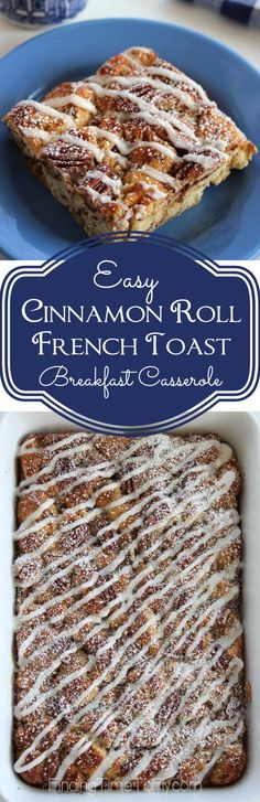 This looks delicious and so easy! Cinnamon Roll French Toast Breakfast Casserole would be a great breakfast casserole for when you have company or even Christmas morning.