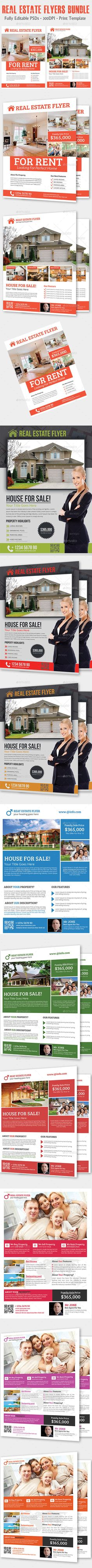 real estate flyer flyer template flyers and real estates real estate flyers bundle