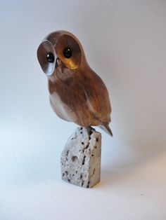 Owl Wood Carving by northwoodscarvings on Etsy, $125.00